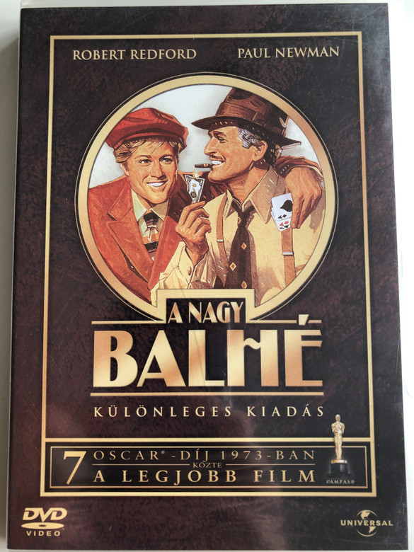 The Sting DVD 1973 A nagy balhé / Különleges kiadás / Hungarian Special edition / Directed by George Roy Hill / Starring: Paul Newman, Robert Redford, Robert Shaw (5050582397840)