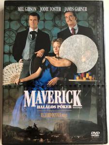 Maverick DVD 1994 Maverick - Halálos Póker / Directed by Richard Donner / Starring: Mel Gibson, Jodie Foster, James Garner, Graham Greene (5999010440393)