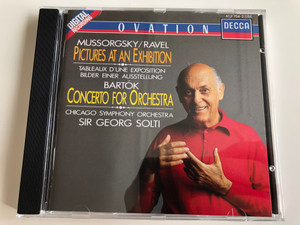 Mussorgsky, Ravel – Pictures at an Exhibition / Bartók - Concerto for Orchestra / Chicago Symphony Orchestra, Sir Georg Solti / Decca Audio CD 1988 Stereo / 417 754-2