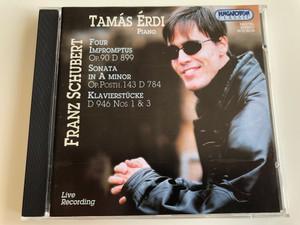 Tamás Érdi - piano / Four Impromptus Op. 90 D 899, Sonata In A Minor Op. Posth. 143 D 784, Klavierstücke D 946 Nos. 1 & 3 / Franz Schubert / Live Recording / Hungaroton Classic Audio CD 2002 Stereo / HCD 32184