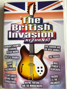 The British Invasion Returns DVD 2000 / Directed by Haig Papasian / 31 Brit Hits: The Troggs, Mike Pender's Searchers, Clem Curtis and the Foundations, Billy J. Kramer (7391970036926)