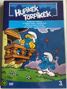 Hupikék törpikék (Smurfs) 3. DVD 1981 / Created by Peyo / Actors: Danny Goldman, Don Messick, Frank Welker, Michael Bel / Episodes: Rómeó és Törpilla, A Varázstojás, Törpilla balettcipője, Szupertörp, Az áltörtp, Törpicúrok (5996255737240)
