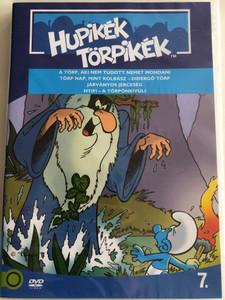 Smurfs 7. DVD 1982 Hupikék törpikék 7. / Season 2 / Created by Peyo / Episodes: A törp, aki nem tudott nemet mondani, Törp nap mint Kolbász, Járványos Jérceség, Nyifi (5996255737288)