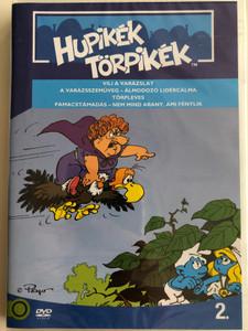 Smurfs 2. DVD 1982 Hupikék törpikék 2. / Episodes from Season 1 / Created by Peyo / Episodes: Vili a varázslat, A varázsszemüveg, Törpleves, Pamacstámadás, Nem mind arany, ami fénylik (5996255737233)
