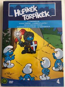 Smurfs 4. DVD 1982 Hupikék törpikék 4. / Season 2 / Created by Peyo / Episodes: A Törperős úr, A lila törpök, A Kísértetkastély, Mutatványos törpök, az Időtörpölő (5996255737257)