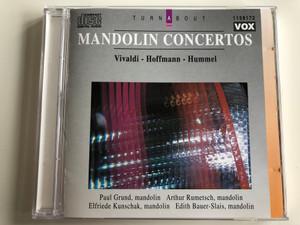 Mandolin Concertos / Vivaldi - Hoffmann - Hummel / Mandolin: Paul Grund, Arthur Rumetsch, Elfriede Kunschak, Edith Bauer-Slais / Dureco Audio CD 1994 Stereo / 1159172