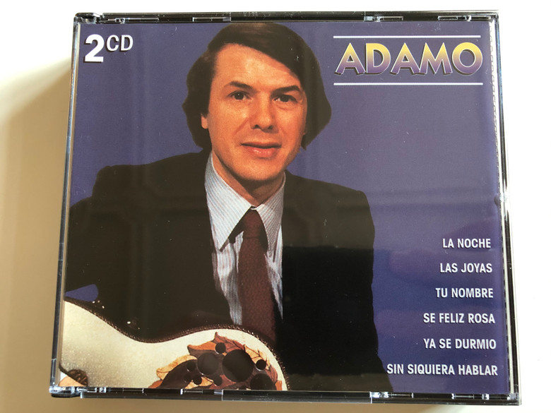 Adamo - La Noche, Las Joyas, Tu Nombre, Se Feliz Rosa, Ya Se Durmio, Sin Siquiera Hablar / Biem/Stemra 2x Audio CD 1997 / KBOX 269