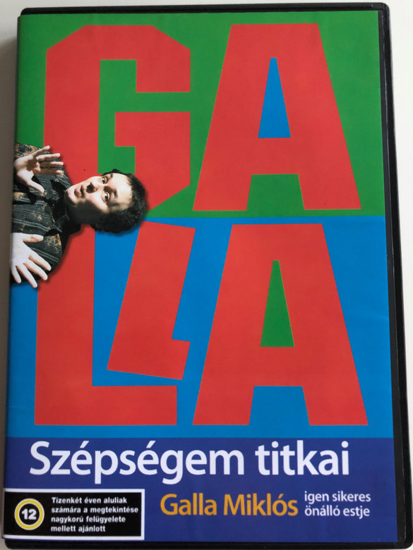 Galla - Szépségem titkai DVD 2005 / Galla Miklós igen sikeres önálló estje / Hungarian Stand up comedy (5990501940019)