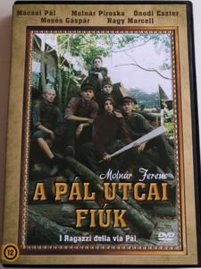 A Pál utcai fiúk DVD 2003 I Ragazzi della via Pál / Directed by Maurizio Zaccaro / Starring: Mesés Gáspár, Mario Adorf, Nancy Brilli, Virna Lisi, Mácsai Pál, Ónodi Eszter, Molnár Piroska (5999545584104)