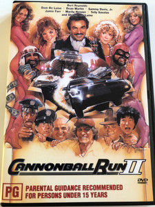 Cannonball Run II DVD 1984 / Directed by Hal Needham / Starring: Burt Reynolds, Dom DeLuise, Dean Martin, Sammy Davis Jr., Jamie Farr (9332412001575)