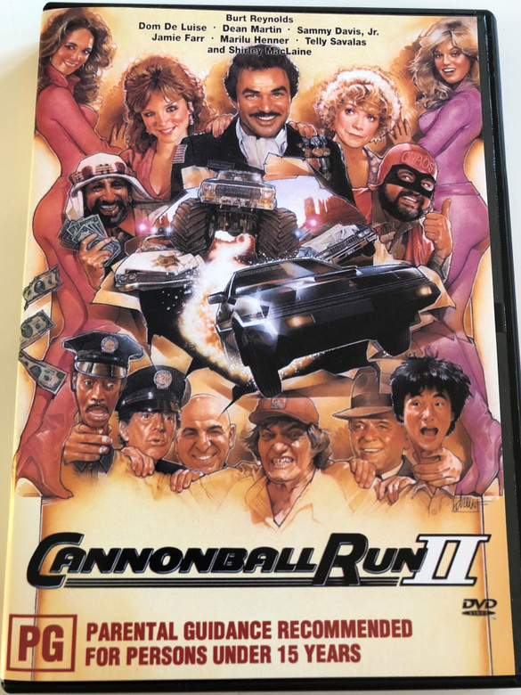 Cannonball Run II DVD 1984 / Directed by Hal Needham / Starring: Burt Reynolds, Dom DeLuise, Dean Martin, Sammy Davis Jr., Jamie Farr (9332412001575)