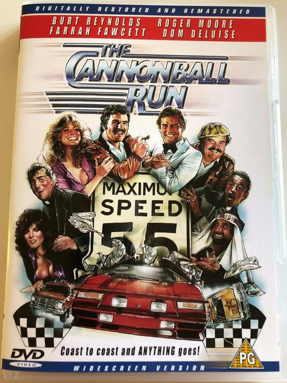 The Cannonball Run DVD 1981 / Directed by Hal Needham / Starring: Burt Reynolds, Roger Moore, Farrah Fawcett, Dom DeLuise, Dean Martin, Sammy Davis Jr. (5032438505685)