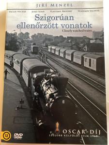 Closely Watched Trains - Ostře sledované vlaky DVD 1966 Szigorúan ellenőrzött vonatok / Directed by Jirí Menzel / Starring: Václav Neckár, Jitka Bendová, Vladimir Valenta (5999545587020)