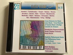 Classic Visions In Digital, Vol. 35 / Schubert, Tschaikowsky, Chopin, Brahms, Rimsky-Korsakov, Dvorak, Bach, Gounod / Slovak Chamber Orchestra / State Philharmony Kosice / Radio Bratislava Symphony Orchestra / Selected Sound Carrier 2x Audio CD 1996 / 7619929223426