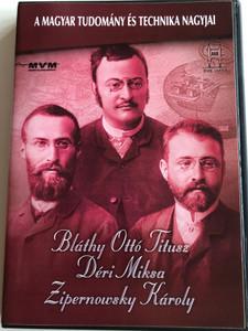 A Magyar Tudomány és Technika Nagyjai Multimedia CD 2004 Bláthy Ottó Titusz, Déri Miksa, Zipernowsky Károly / BME OMIKK / Műegyetem 1782 (5999635934598)