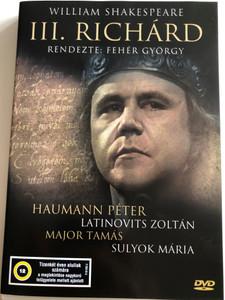 III. Richard DVD 1973 Richard the 3rd by William Shakespeare / Directed by Fehér György / Starring: Haumann Péter, Latinovits Zoltán, Major Tamás, Sulyok Mária / Black & White Hungarian Film (5996357342984)