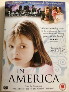 In America DVD 2003 / Directed by Jim Sheridan / Starring: Samantha Morton, Paddy Considine, Sarah Bolger, Emma Bolger (5039036015783)
