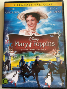 Mary Poppins DVD 1964 Jubileumi kiadás / Hungarian Anniversary edition / Directed by Robert Stevenson / Starring: Julie Andrews, Dick Van Dyke, David Tomlinson, Glynis Johns (5996514013139)