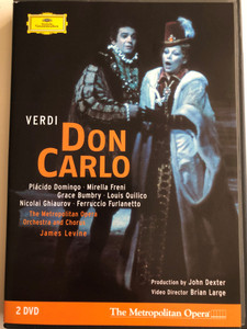 Verdi - Don Carlo DVD 2005 / Plácido Domingo, Mirella Freni / Directed by Brian Large / Metropolitan Opera Orchestra and Chorus / Conducted by James Levine / 2 DVD (044007340851)