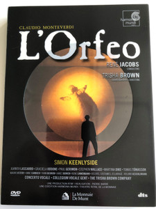 Claudio Monteverdi - L'Orfeo 2x DVD 1998 / Directed by Trisha Brown, Pierre Barré / Conductor: René Jacobs / Simon Keenlyside, Juanita Lascarro, Graciela Oddone / Theatre Royal De la Monnaie, Bruxelles (794881818792)
