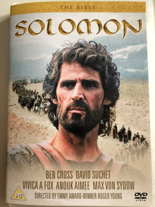 The Bible - Solomon DVD 1997 / Directed by Roger Young / Starring: Ben Cross, Vivica A. Fox, David Suchet, G.W Bailey, Maria Grazia Cucinotta / Bible themed movie about the 3rd King of Israel (5060070995267)