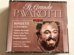 Il Grande Pavarotti / Donizetti - La Favorita, Luciano Pavarotti, Maria Luisa Nave, Renato Bruson, Bonaldo Giaiotti / San Francisco Opera House Orchestra & Chorus, Carlo Felice Cillario / Frequenz 2x Audio CD 1995 / 043-507