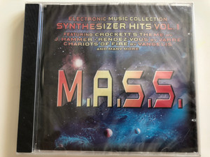 M.A.S.S. – Electronic Music Collection Synthesizer Hits Vol. 1 / Featuring: Crockett's theme by J. Hammer, Rendez-Vous by Jarre, Chariots Of Fire by Vangelis and many more / Pastels Audio CD / 20.1701-PA