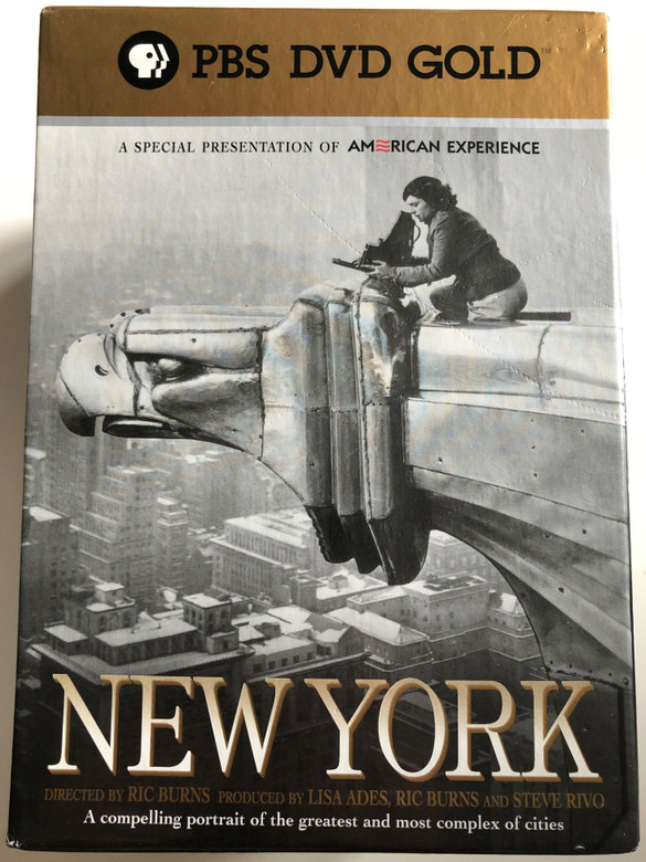 New York Documentary DVD Box 1999 / Directed by Ric Burns / Produced by Lisa Ades, Ric Burns and Steve Rivo / PBS DVD Gold / 7 DVD SET - 7 documentary episodes / The History of NYC / A compelling portrait of the greatest and most complex of cities (794054857825)