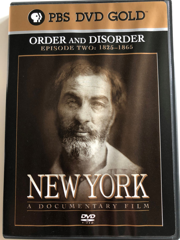 New York - Episode 2 - 1825-1865 DVD 1999 / Directed by Ric Burns / Produced by Lisa Ades, Ric Burns and Steve Rivo / PBS DVD Gold / The History of NYC / A compelling portrait of the greatest and most complex of cities (794054858020)