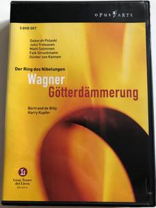 Wagner - Götterdämmerung 3 DVD SET / Der Ring des Nibelungen / Bertrand de Billy, Harry Kupfer / Deborah Polaski, John Treleaven, Matti Salminen, Falk Struckmann, Günter von Kannen / Gran Teatre del Liceu Barcelona (809478009139)