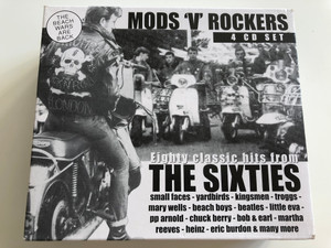 Mods 'v' Rockers / Eighty Classic hits from The Sixties - Small faces, Yardbirds, Kingsmen, Beach Boys, Little Eva, Bob & Earl, Eric Burdon & many more / Dressed To Kill ‎4x Audio CD Set 1998 / DTKBOX100