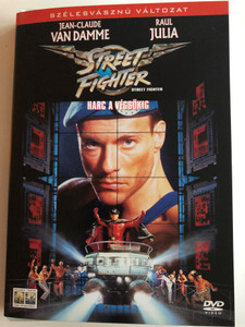 Street fighter DVD 1994 Harc a végsőkig / Directed by Steven E. de Souza / Starring: Jean-Claude van Damme, Raul Julia, Ming-Na Wen, Damian Chapa, Kylie Minogue (5999010443622)