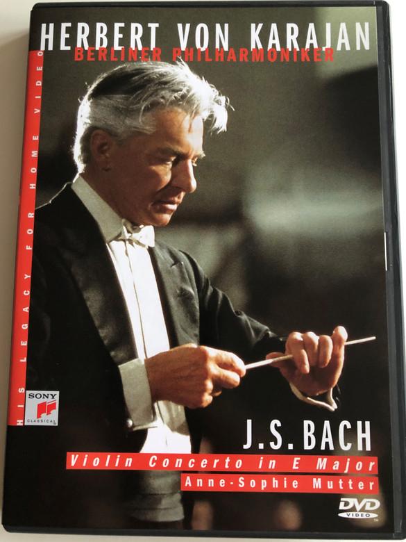 Herbert Von Karajan - J. S. Bach DVD Violin Concerto in E Major / Directed by Humphrey Burton / Anne-Sophie Mutter - Berliner Philharmoniker / Recorded December 31 1984 at the Philharmonie, Berlin / SVD 45983 / Sony Music (5099704598390)