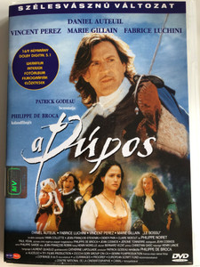 Le bossue DVD 1997 A Púpos (On guard) / Directed by Philippe de Broca / Starring: Daniel Auteuil, Marie Gillain, Vincent Perez, Fabrice Luchini (5999545560085)
