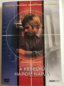 Three days of the Condor DVD 1975 A Keselyű három napja / Directed by Syndey Pollack / Starring: Robert Redford, Faye Dunaway, Cliff Robertson, Max von Sydow (5996051090211)