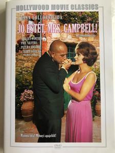 Buona Sera, Mrs. Campbell DVD 1968 Jó estét, Mrs. Campbell! / Directed by Melvin Frank / Starring: Gina Lollobrigida, Phil Silvers, Peter Lawford, Telly Savalas (5999546333725)