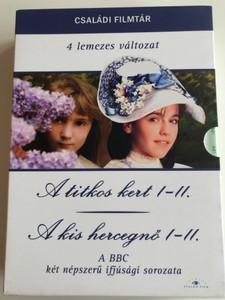 The Secret Garden I-II. DVD 1975 A Little Princess I-I. 1986 / 4 DVD SET / A titkos kert I-II., A Kis hercegnő I-II / A BBC két népszerű ifjúsági sorozata / Családi filmtár (5999886089184)