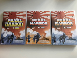 Pearl Harbor PartS 1-3 DVD SET 2004 Pearl Harbor I-III. rész / Historical WWII documentary about the attack on Pearl Harbor / Clash of Empires, The Japanese air attack, The Aftermath (PearlHarborDVDSet)