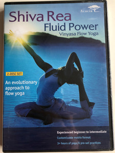 Shiva Rea - Fluid Power DVD Vinyasa Flow Yoga / An evolutionary approach to flow yoga / 2 DISC SET / Experienced beginner to intermediate / Customizable matrix format / 3+ hours of yoga (054961884490)