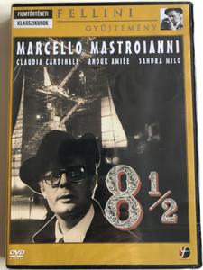Otto e Mezzo DVD 1963 8½ / Directed by Federico Fellini / Starring: Marcello Mastroianni, Claudia Cardinale, Anouk Aimée, Sandra Milo (5999546330885)