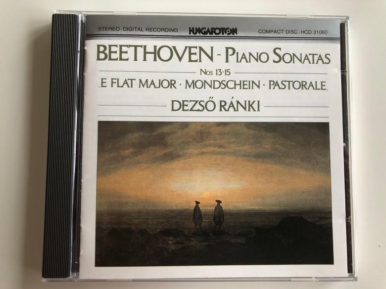 Beethoven – Piano Sonatas Nos 13 -15, E Flat major, Mondschein, Pastorale / Dezső Ránki / Hungaroton Audio CD 1989 Stereo / HCD 31060