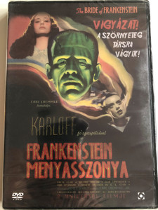 The Bride of Frankenstein DVD 1935 Frankenstein Menyasszonya / Directed by James Whale / Starring: Boris Karloff, Colin Clive, Valerie Hobson, Elsa Lanchester (5999544254138)