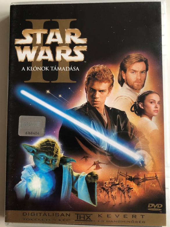 Star Wars II - Attack of the clones DVD 2002 A Klónok támadása / Directed by George Lucas / Starring: Ewan McGregor, Natalie Portman, Hayden Christensen, Ian McDiarmid, Samuel L. Jackson (5996255708950)