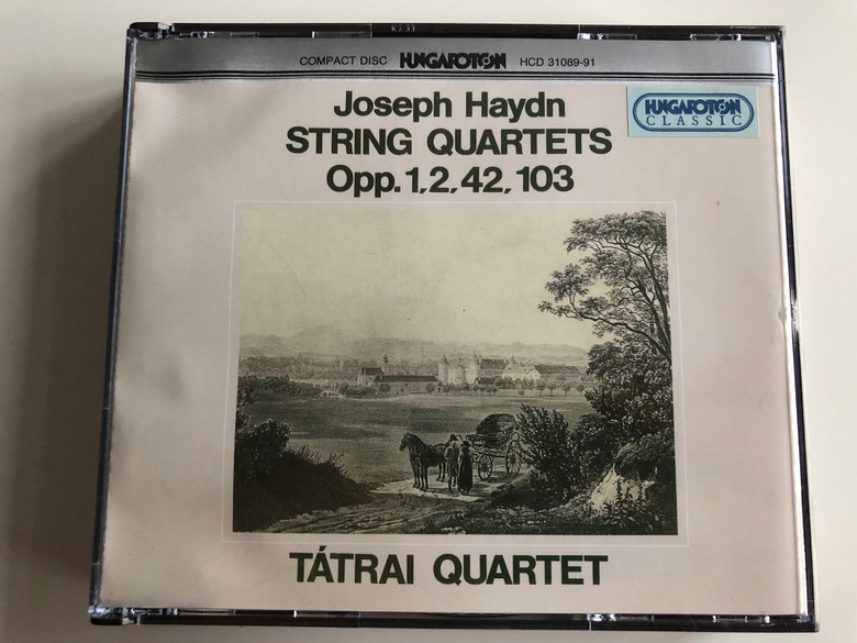 Joseph Haydn – String Quartets Opp.1, 2, 42, 103 / Tátrai Quartet / Hungaroton Classic 3x Audio CD 1995 Stereo / HCD 31089-91