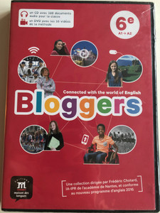 Bloggers DVD 2017 Connected with te world of English / Noveau Programme / English learning for french children / Vocabulary ,Reading, Pronunciation (9782356854445)