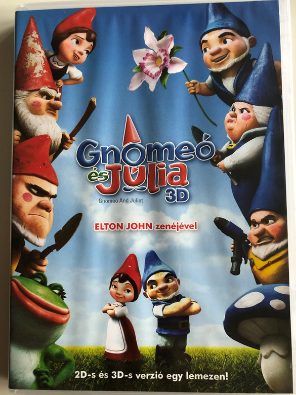 Gnomeo and Juliet 3D DVD 2011 Gnomeó és Júlia 3D / Directed by Kelly Asbury / Starring: Kelly Asbury, Mark Burton, Andy Riley, Kevin Cecil, Emily Cook / With 2 3D viewing glasses included (5996051160174)