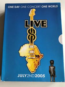 Live 8 DVD July 2nd 2005 / The long Walk to Justice / 9 concerts - 1000 artists - 2 Million Spectators - Make Povert History / Paul Mccartney, Coldplay, Elton John, Dido, Josh Groban, Alicia Keys / 4 DVD BOX (094634166898)