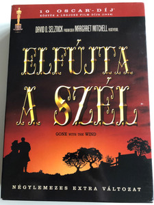 Gone with the Wind DVD 1939 Elfújta a szél / 4 disc Special Edition / Négylemezes extra változat / Directed by Victor Fleming / Starring: Clark Gable, Vivien Leign, Leslie Howard, Olivia de Havilland (5999048910011)