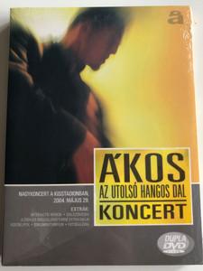 Ákos - Az utolsó hangos dal DVD 2004 / Directed by Papnikolaou Nikosz / Nagykoncert a kisstadionban 2004 Május 29 / 2 DVD (5998638324351)