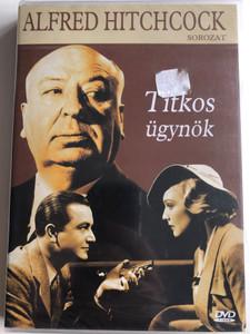 Secret Agent DVD 1936 Titkos ügynök / Directed by Alfred Hitchcock / Starring: Madeleine Carroll, Peter Lorre, John Gielgud, Robert Young / Black & White (5999881767438)
